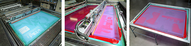 Removal of ink stains and diazo from screen printing screens